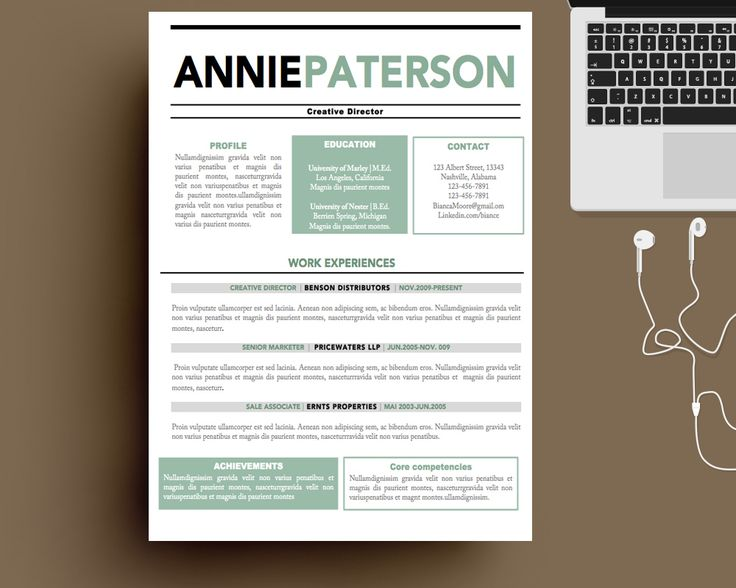 16 best Resume Template images on Pinterest Resume templates - template for resume in word