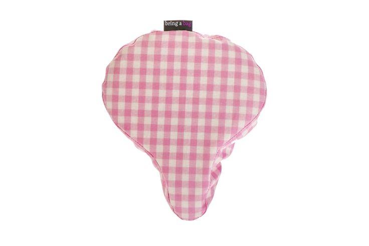 Rózsaszín kockás nyeregvédő huzat » Bring A Bag – Biciklistáskák, kerékpáros kiegészítők - Divatos, menő és dizájnos táskák, kiegészítők minden biciklire!