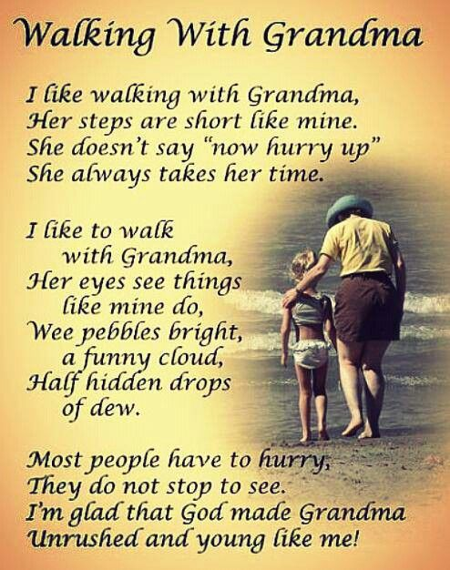 Great poem for Grandparents Day, or for children to use on Mother's/Father's day if they are raised by their grandparents. Super sweet & cute, with a hint of funny at the end. :)