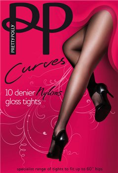 Pretty Polly Curves nylons AAP6 10 denier gloss  panty. Hebben we in de maten 46 t/m 60.