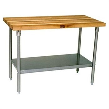 DIY Butcher Block on top of Stainless Steel Prep Table