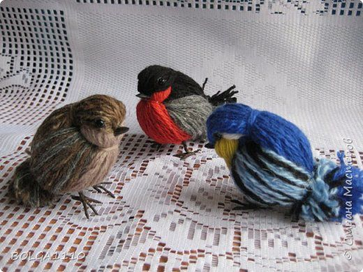 Titmouse and sparrows from yarn.  Master class (1) (520x390, 195Kb)