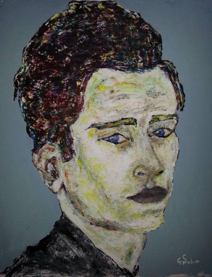 """Saatchi Art Artist George Sabin; Painting, """"US Man"""" #art"""