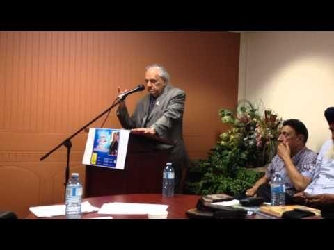 Stephen Gill reading poem on peace in Punjabi