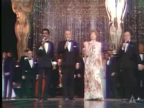 "1975 ACADEMY AWARDS ~ Frank Sinatra, Sammy Davis Jr., Shirley MacLaine, Bob Hope, and winners and nominees sing ""That's Entertainment"" as the Oscars' big finale. (4:33) [Video]"