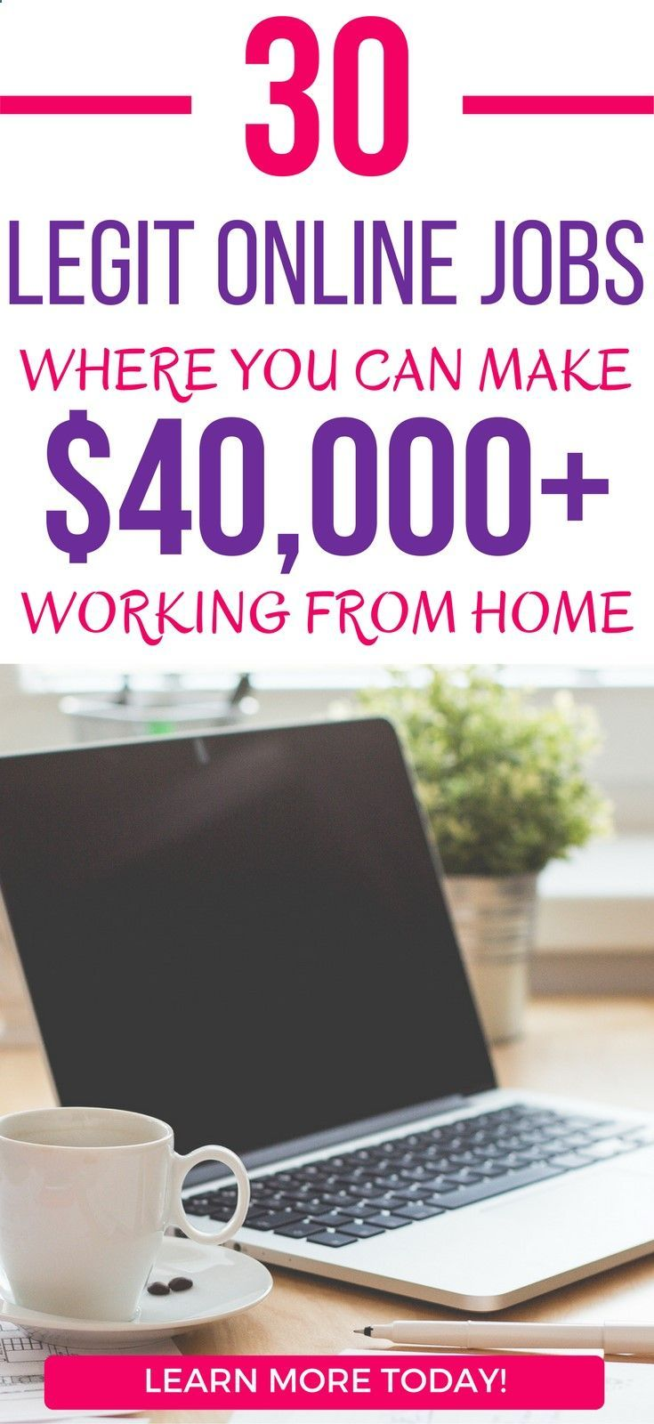 33 Legit Online Jobs Where You Can Earn $40,000 From Home legit work from home jobs 2018 | legit work from home jobs | legitimate work from home jobs 2018 | legit ways to make extra money | legit ways to make money online #sidehustles #blogging #makemoneyonline
