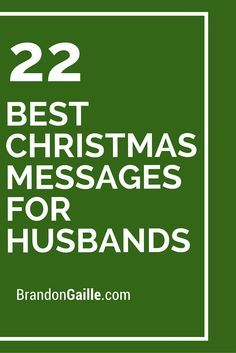 22 Best Christmas Messages for Husbands