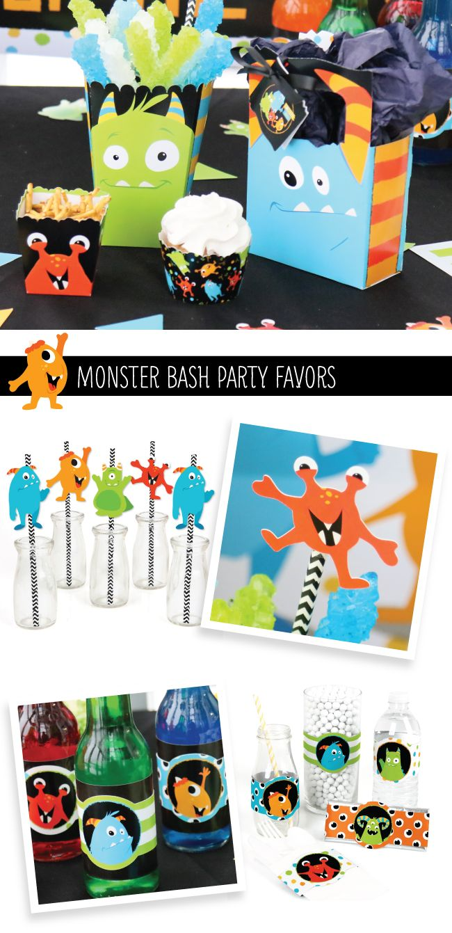 Monster Bash Party Ideas - Little Monster Party Supplies & Decorations from BigDotOfHappiness.com
