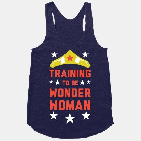 Grab your boots, tiara and high wasted panties, it's time to train like an Amazon! Show your commitment to fitness as well as your enthusiasm for comic books with this Wonder Woman themed workout design.