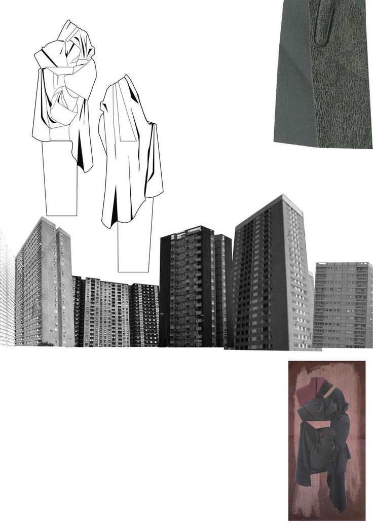 Fashion Sketchbook - architectural fashion design, draping research, fashion sketches // Chloe Bayles