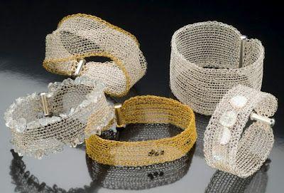 Secret Life of Jewelry - A Universe of Handcrafted Art to Wear: Woven Wire Mesh - Nicky Falkenhayn Jewelry