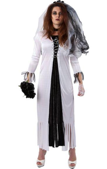 Halloween Skeleton Bride Costume (Plus Size) | Jokers Masquerade