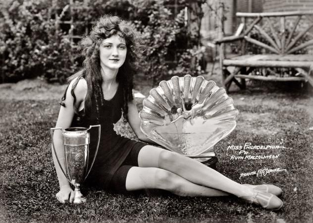Miss America 1924 - Eighteen-year-old Ruth Malcomson, Miss Philadelphia of 1924. Later that year in Atlantic City, she would be crowned Miss America.