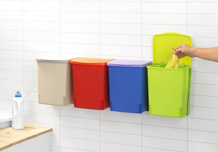 Resultado de imagen de cubos de colores para separar residuos