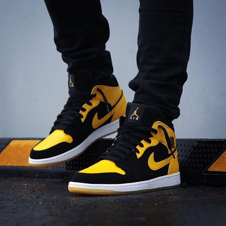 yellow and black jordan 1 high top