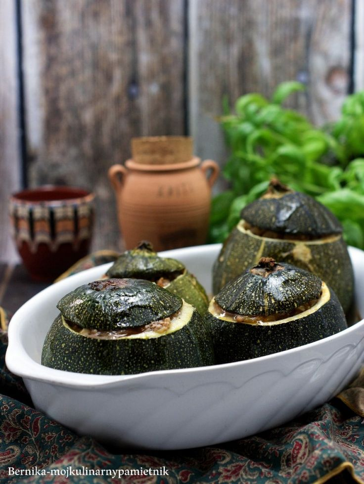 Courgettes stuffed