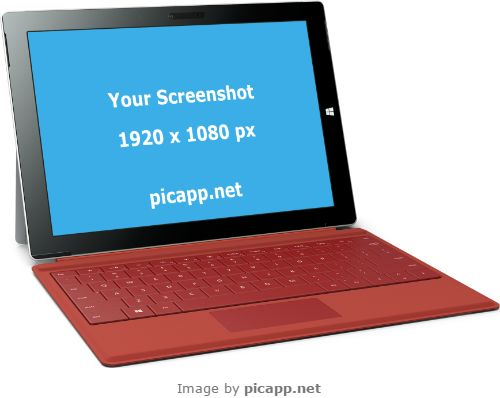 If you want to put your screenshot on a Microsoft Surface 3, you can do this very easy and you don't need technical skills or Adobe Photoshop. Picapp.net has a large library with the latest devices. You need just to choose what you like, upload your screenshot and done. The good part at this online tool is: it's free!   #microsoft #nobackground #mockup #microsoftSurface3