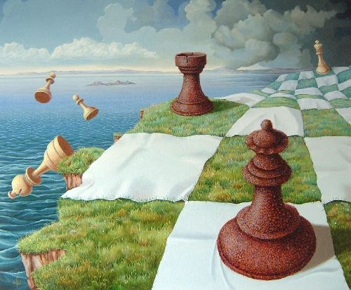 I would love to own... Big chess player!  Paul Jonkers (b.1951) -   End Game, c.2007, oil on canvas, private collection.
