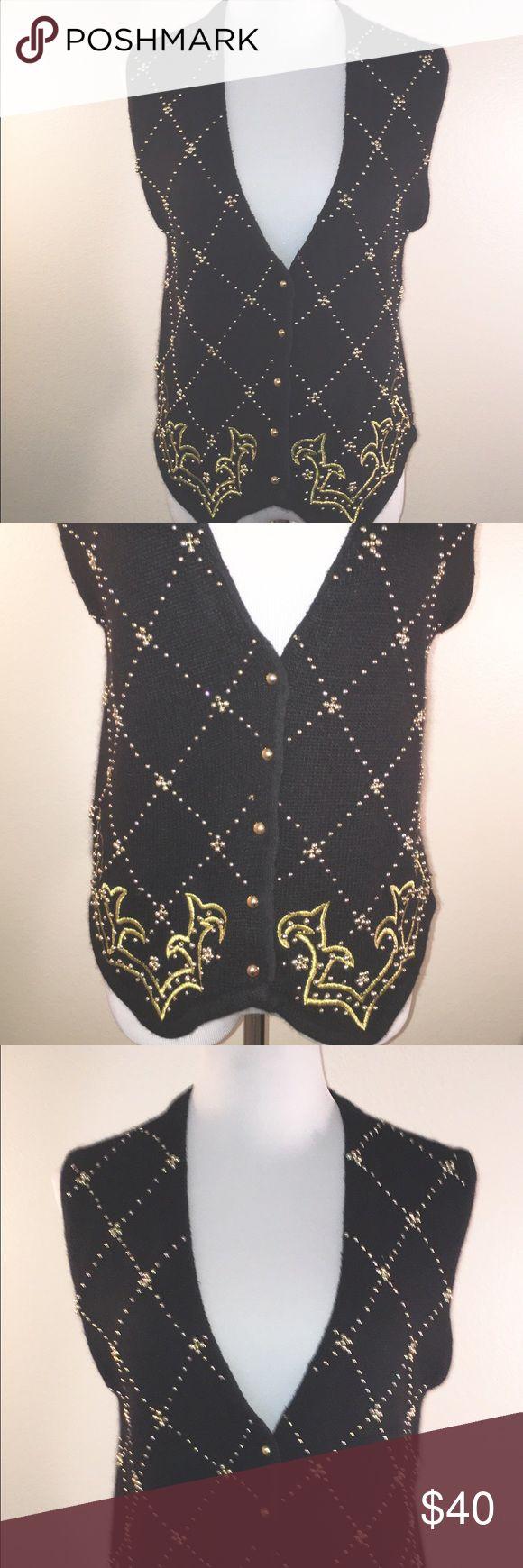 Karen Scott Evening Vest Gorgeous Karen Scott Evening Vest. Silk and angora blend. Absolutely stunning. Size medium. Karen Scott Tops