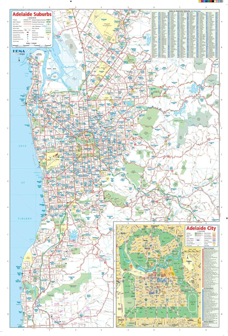 businessmapsaustralia — Map of Adelaide City containing detailed roads and infrastructure.