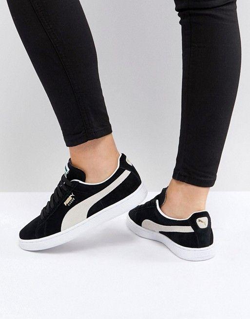 bb9acf96e018 Puma Suede Classic sneakers in black in 2019