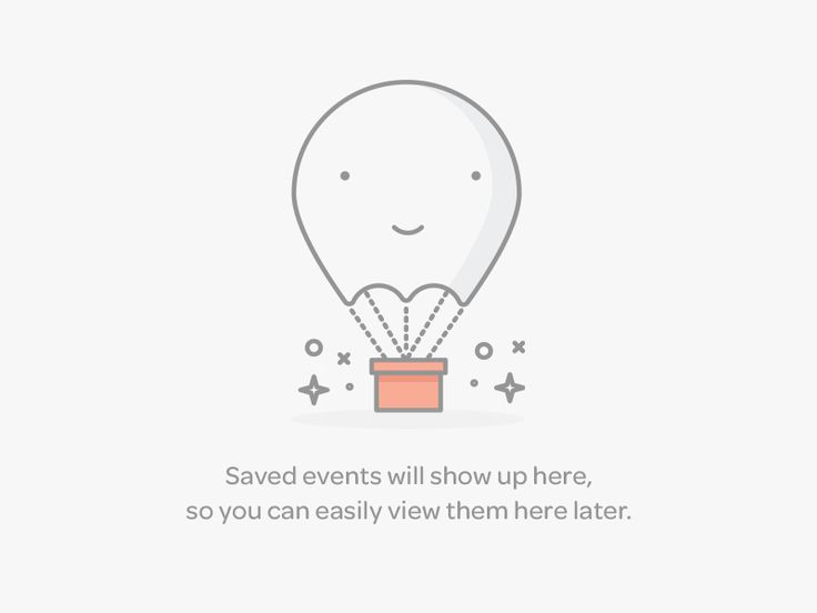 Saved Events Empty Data / Lumen Bigott