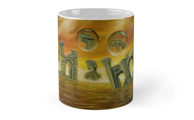 Coffee Mug, ancient, ruins, temples, colorful, orange, golden, magical, fantasy, home, kitchen, accessories,cool,beautiful,unique,artistic,unusual,for sale,design,gifts,presents,ideas, redbubble