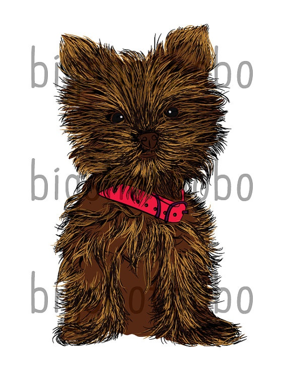 Vector Graphic clip art of a Yorkshire Teacup Puppy by BigshotBobo, $3.00