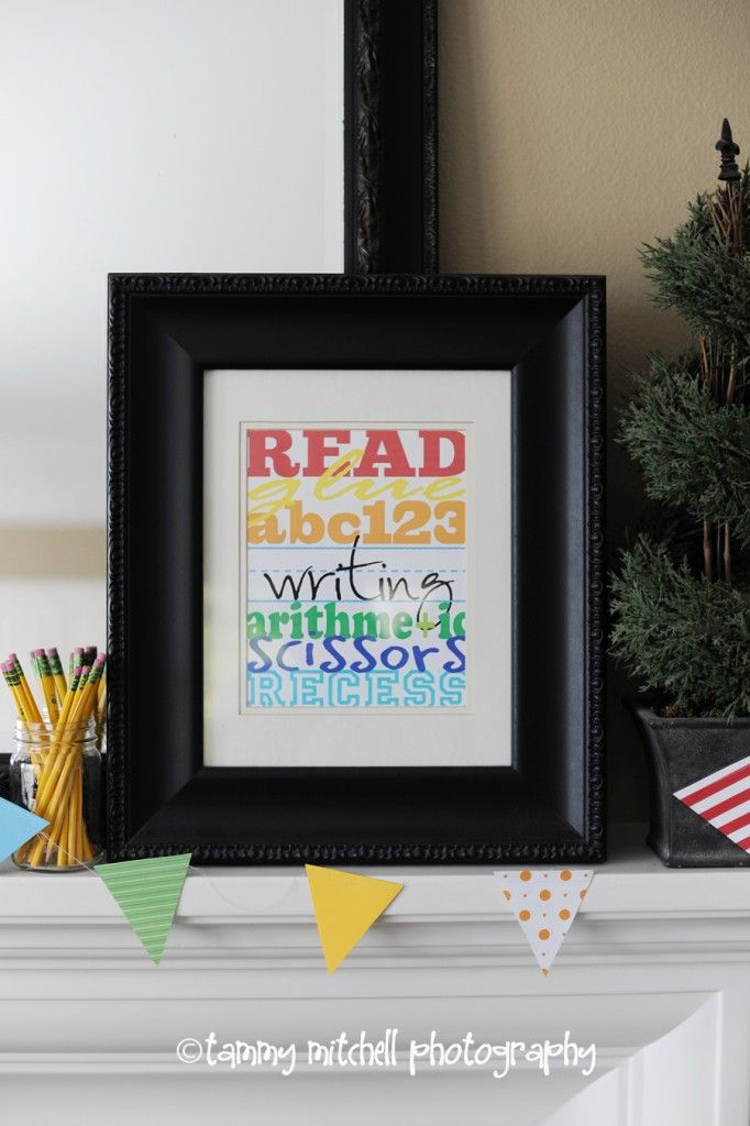 Free printable school subway art...back to school or teacher gift idea.  Frame and go! :)