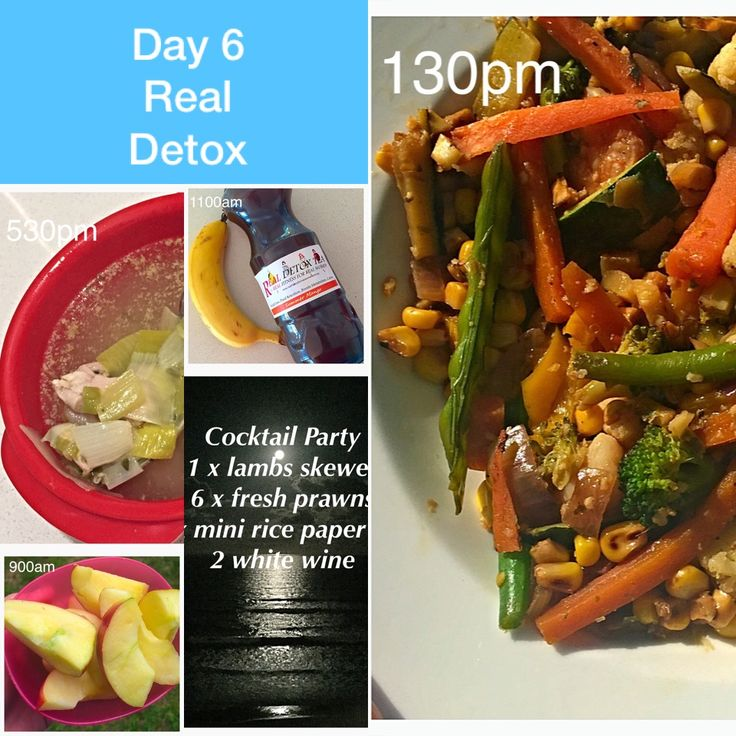 Day Six of Detox and managing with eating out