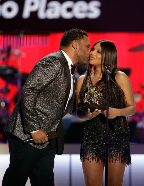 Anthony Anderson (L) presents the Legend Award to Toni Braxton onstage at the 2017 Soul Train Awards, presented by BET, at the Orleans Arena on November 5, 2017 in Las Vegas, Nevada. - BET Presents: 2017 Soul Train Awards - Show
