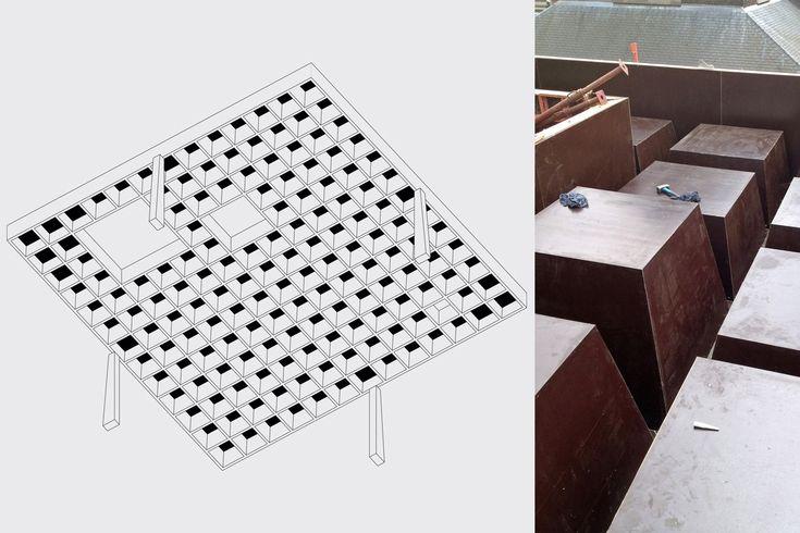 realisatie van een luifel voor een school, Molenbeek | Util struktuurstudies
