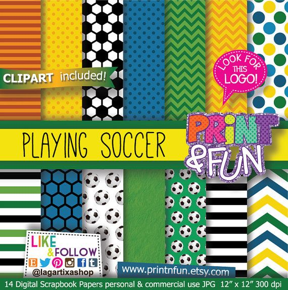 Soccer, Brazil, Brasil, Digital Paper, Patterns, Background, Football Soccer, blue chevron for party printables invitations scrapbooking