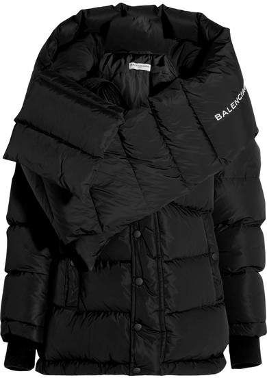 affiliatead -- Balenciaga - Swing Doudoune Oversized Hooded Quilted Shell  Down Coat - Black 9a0a58ead3c5