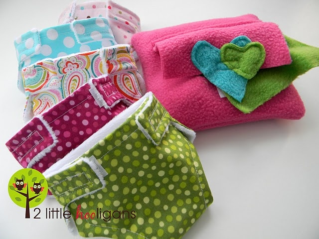 doll cloth diapers & wipes