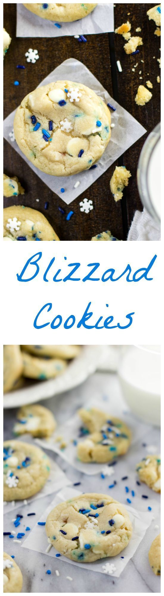Blizzard Cookies -- Funfetti Cookies made with cream cheese and butter -- http://www.SugarSpunRun.com