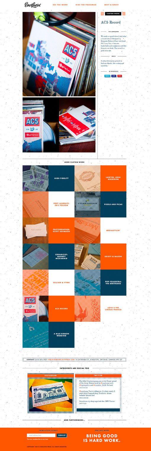 Design Work Life » Tom Froese: Everlovin' Press Site Design