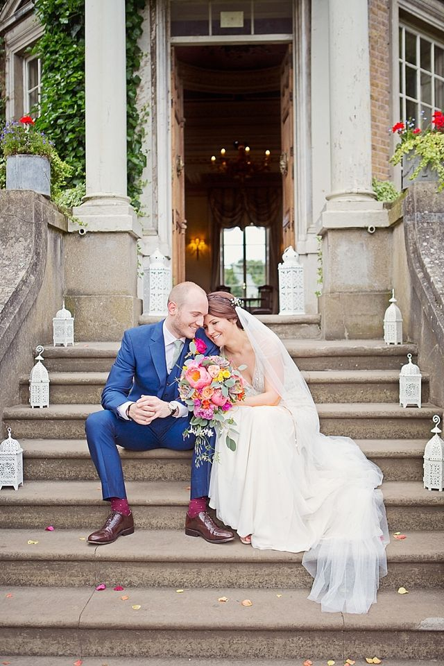 Bright Cheerful Hampton Court House Wedding. Flowers by fairy nuff flowers - fairynuff-flowers.co.uk