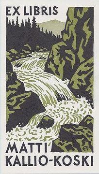 Exlibris by Erkki Tanttu 1970