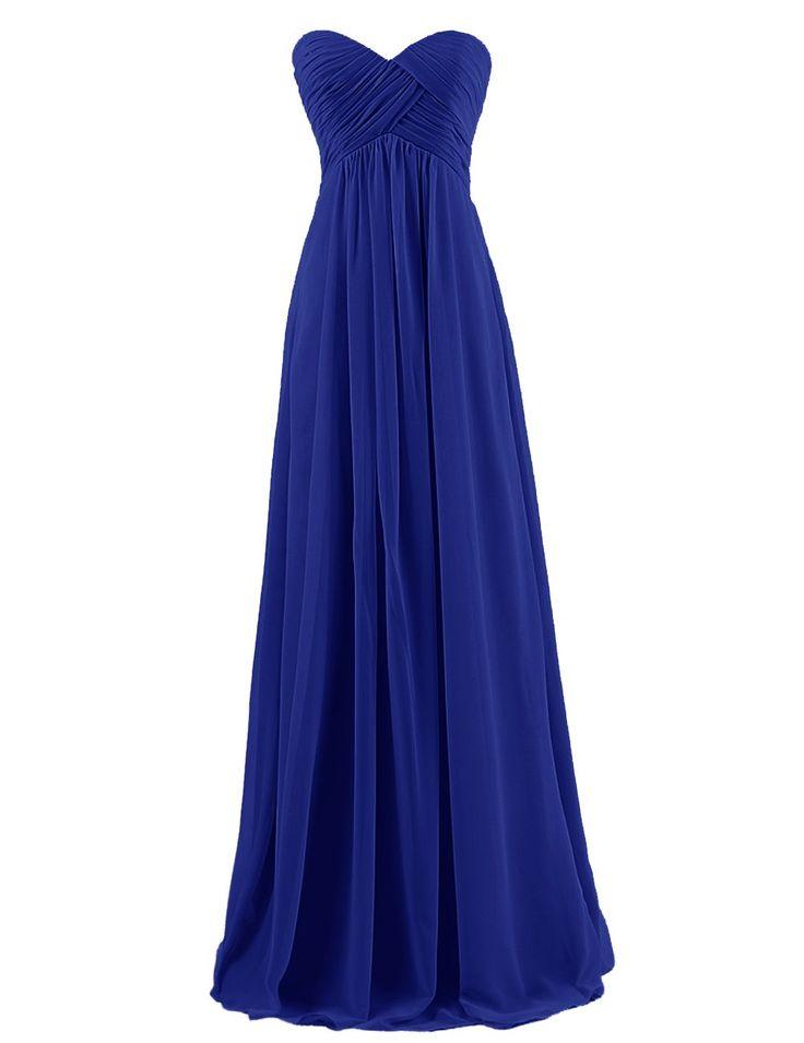 Dresstells Brautjungfernkleid Lang Chiffon Abendkleider mit Schnürung DT100068: Amazon.de: Bekleidung