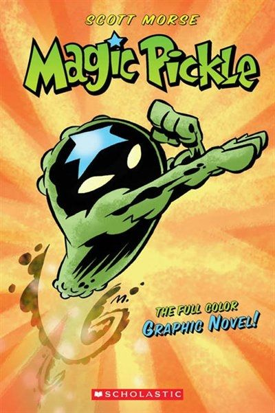 Graphic Novel - Meet the Magic Pickle, a flying kosher dill secret weapon, created in a secret government lab under the floor of little JoJo Wigman''s bedroom. The Magic Pickle is here to save the world from The Brotherhood of Evil Produce who are threatening to take over the world or at least kill us with fruit and vegetable puns