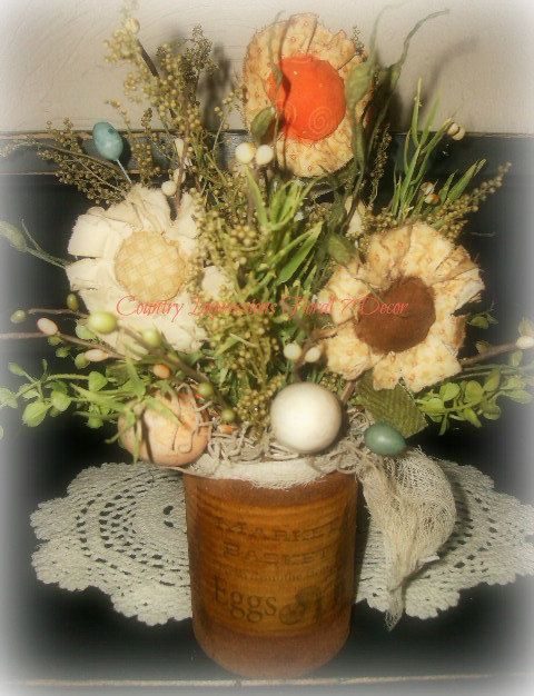 Primitive Easter arrangement by CountryImpressions on Etsy, $22.00