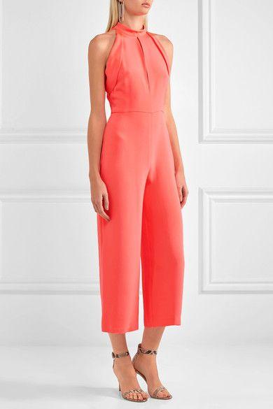 Cushnie et Ochs - Lauren Cutout Silk Jumpsuit - Pink - US10