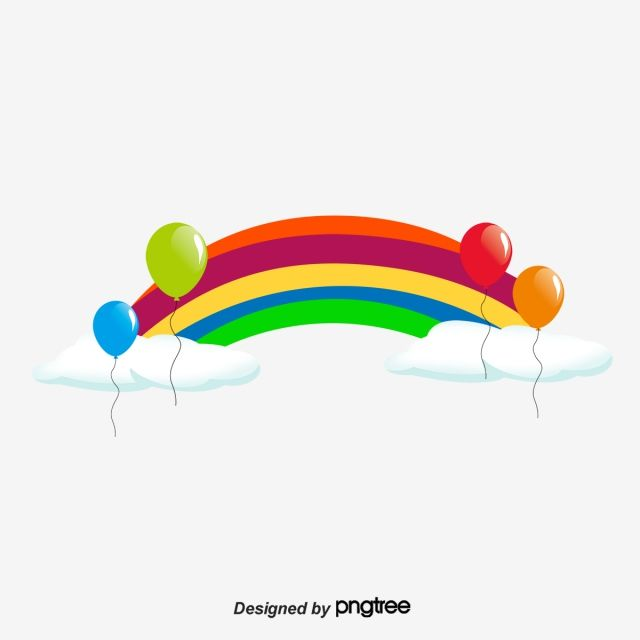 Cartoon Vector Rainbow Vector Balloon Vector Decoration Vector Festive Vector Background Vector Rainbow Balloons Balloons Cartoons Vector