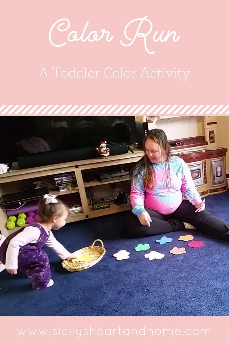 Toddler color learning games - Color Run A Toddler Color Game