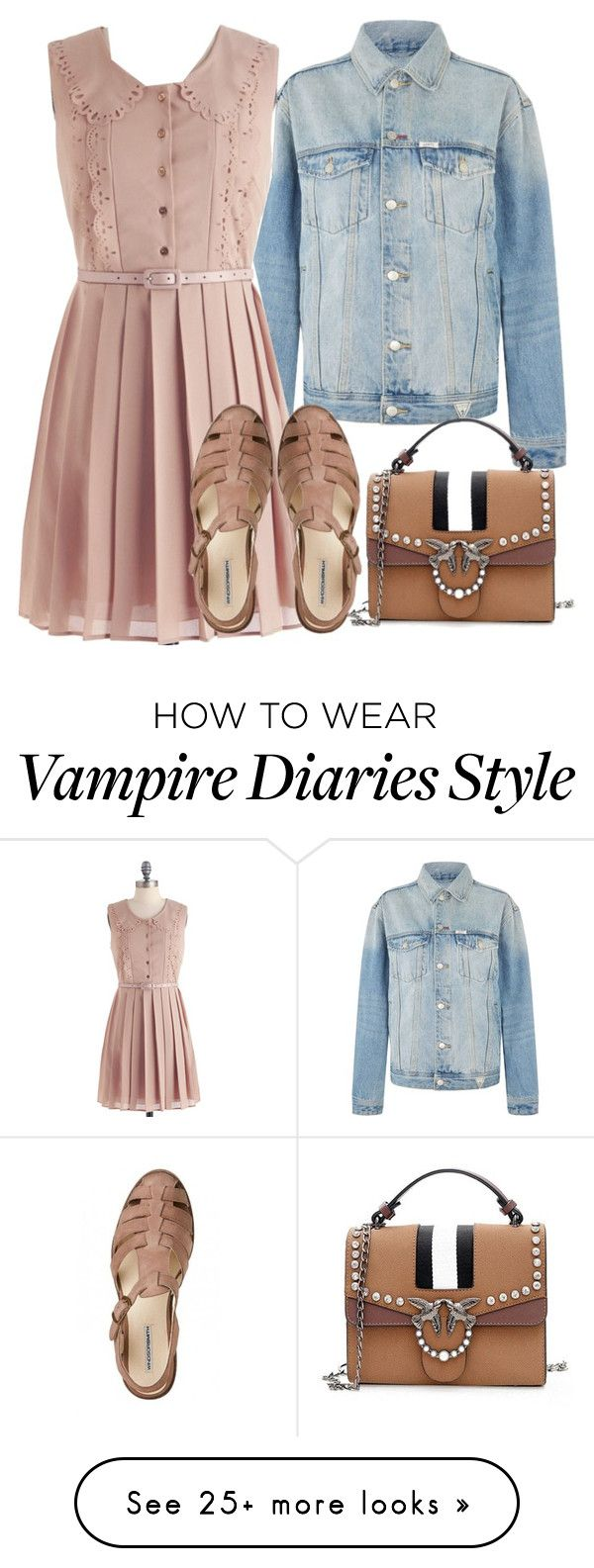 """Caroline Inspired Outfit - The Vampire Diaries / The Originals"" by fangsandfashion on Polyvore featuring GUESS"