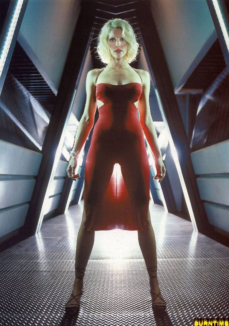 Tricia Helfer as Six | Battlestar Galactica - I thought it awesome that BSG actually explained why a robotic race would even care about Humanity, why they'd retain a humanoid form, why wouldn't they behave with perfect logic. Answer (short form): THEY HAVE EMOTIONS