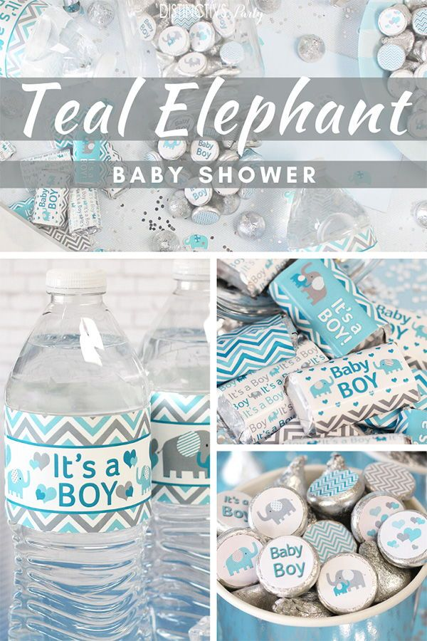 Teal Elephant Baby Shower Ideas Elephant Baby Shower Boy Boy Baby Shower Centerpieces Baby Boy Shower Favors
