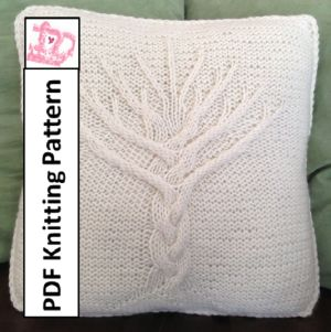 Knitting Pattern Tree of Life 16\u2033x16\u2033 pillow cover & The 25+ best Knitted cushion pattern ideas on Pinterest | Knitted ... pillowsntoast.com