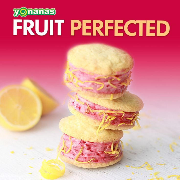 Lemon Raspberry Yonanas Cookie Sandwich Recipe: Sandwich 100% Fruit ...
